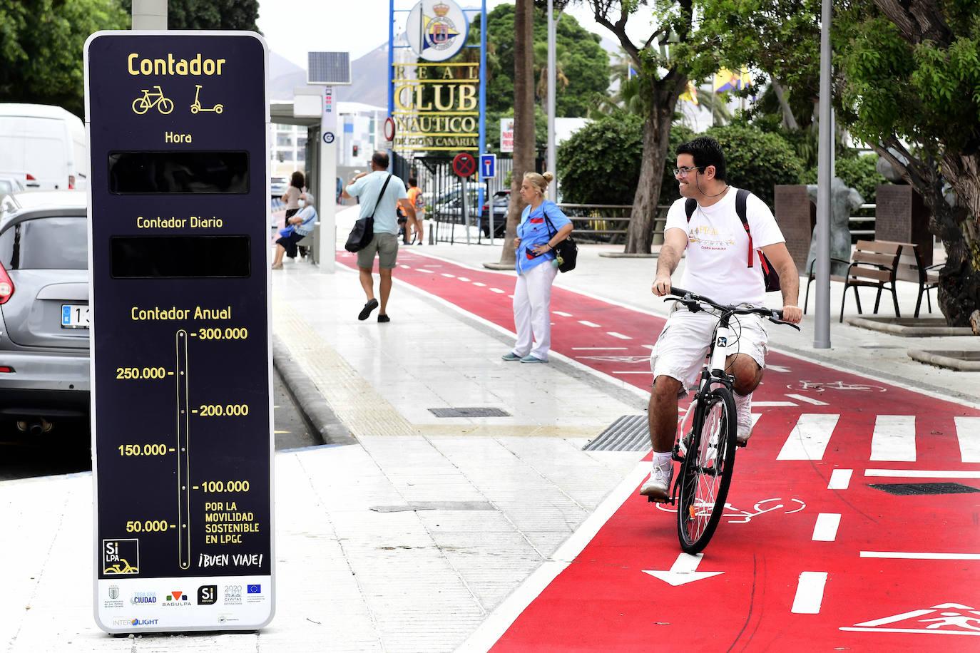 Aforador de ciclistas en Canarias